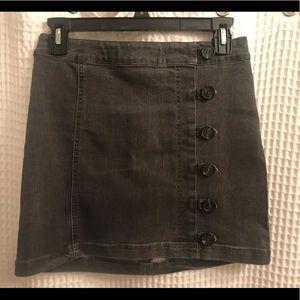 Lizard thicket black mini skirt
